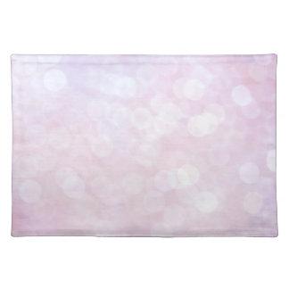 Pink glitter / sparkles (matt) place mats