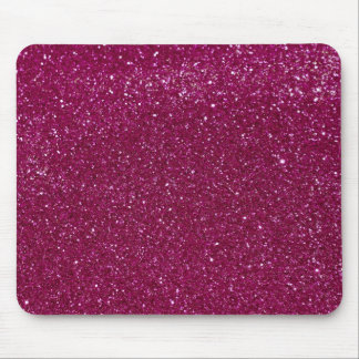 Pink Glitter Sparkles Mouse Pad