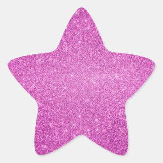 Pink glitter stars star sticker