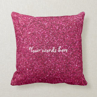 Pink glitter throw pillow