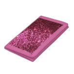 Pink Glitter Tri-Fold Wallet