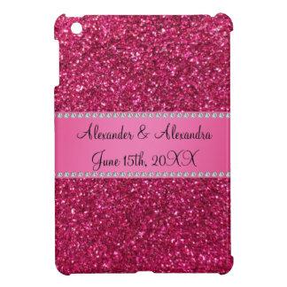 Pink glitter wedding favors iPad mini cases