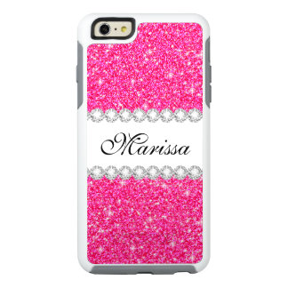 Pink Glitter White OtterBox iPhone 6/6s Case