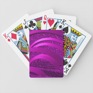 pink glitter with bows bicycle playing cards