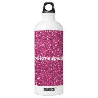 Pink Glitter with Live Love Sparkle Quote SIGG Traveler 1.0L Water Bottle