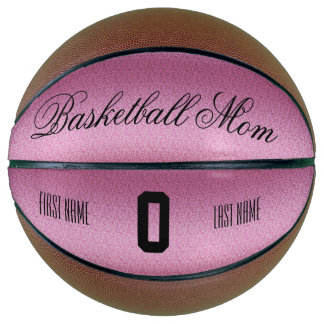 Pink Glittery Gradient Basketball