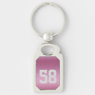 Pink Glittery Gradient Keychain