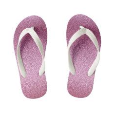 Pink Glittery Gradient Kid's Flip Flops at Zazzle