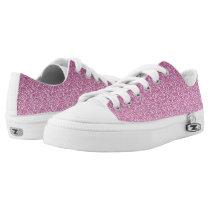 Pink Glittery Gradient Low-Top Sneakers