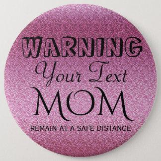 Pink Glittery Gradient Pinback Button