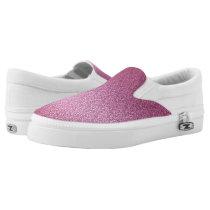 Pink Glittery Gradient Slip-On Sneakers