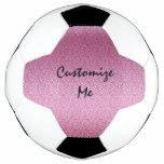 Pink Glittery Gradient Soccer Ball