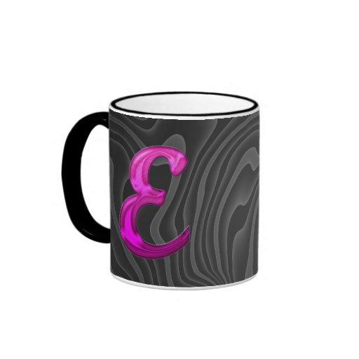 Pink Glittery Initial - E Mugs