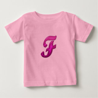 Pink Glittery Initial - F Shirt