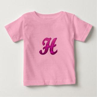 Pink Glittery Initial - H T-shirt