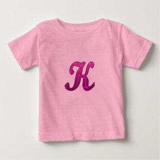Pink Glittery Initial - K T Shirt