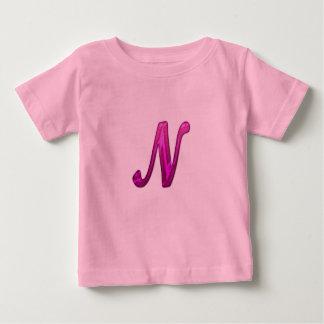 Pink Glittery Initial - N Infant T-shirt
