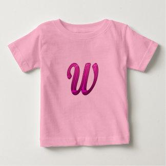 Pink Glittery Initial - W Shirt