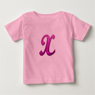 Pink Glittery Initial - X Tee Shirt