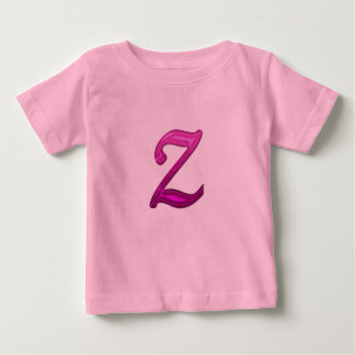 Pink Glittery Initial - Z Infant T-shirt