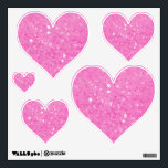 """Pink Glitzy Look Heart: Wall Decals<br><div class=""""desc"""">Pink Glitzy Look Heart: Wall Decals</div>"""