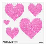 Pink Glitzy Look Heart: Wall Decals<br><div class='desc'>Pink Glitzy Look Heart: Wall Decals</div>