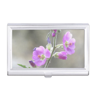 Pink Globe Mallow Wildflowers Case For Business Cards