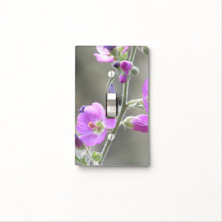 Pink Globe Mallow Wildflowers Light Switch Cover