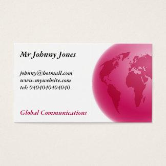 Pink Globe, Mr Johnny Jones Business Card
