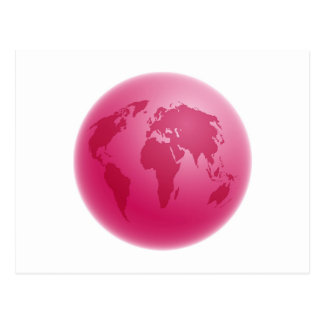 Pink Globe Postcard