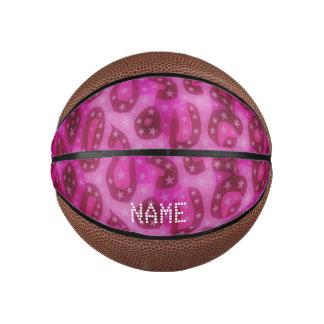Pink Glossy Cheetah Basketball