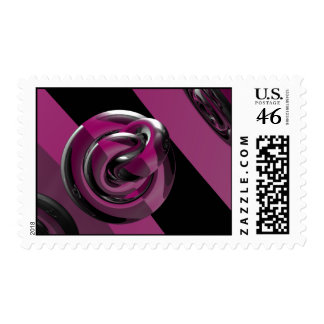 Pink & glossy postage stamps