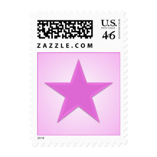 Pink Glossy Star Postage Stamp