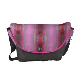 Pink glow 2 courier bag