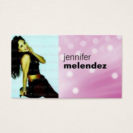Pink Glow Photo Business Card Profilecard
