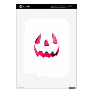 Pink Glow Jack O Lantern Face iPad 3 Decal