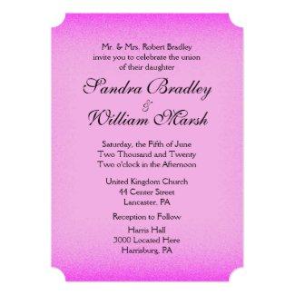 Pink Glow Wedding 5x7 Paper Invitation Card