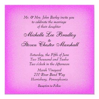 Pink Glow Wedding Invitations