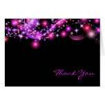 PINK GLOWING STARS  Folded Thank You Card Cards