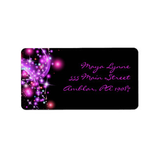 PINK GLOWING STARS Print Your Own Label