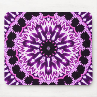 Pink glowstick star mouse pad