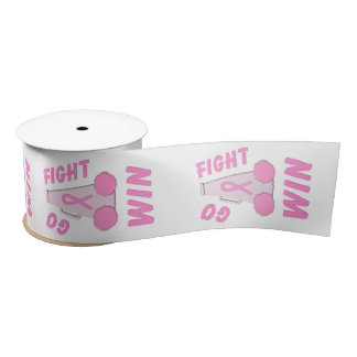 Pink Go Fight Win Megaphone Blank Ribbon