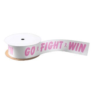 Pink Go Fight Win Satin Ribbon