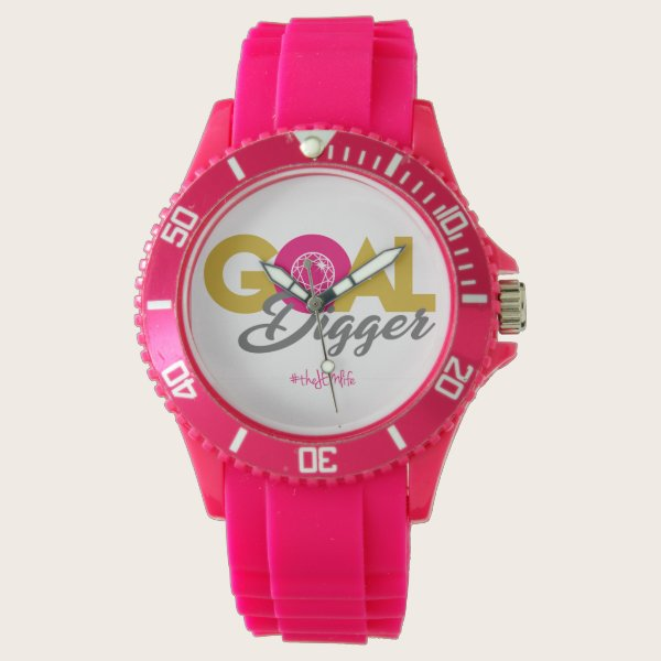Pink Goal Digger Watch
