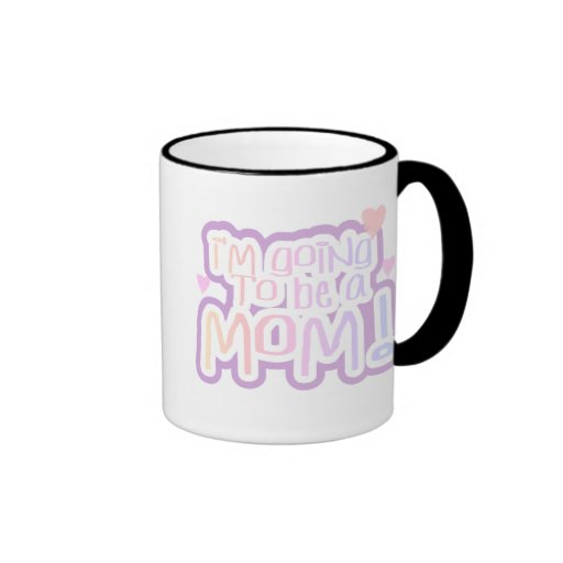Pink Going to be a Mom Ringer Coffee Mug