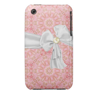 Pink, Gold and White iPhone 3 Case