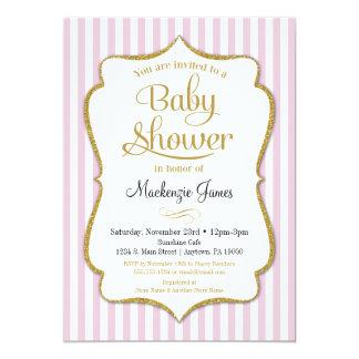 Pink Gold Baby Shower Invitation Girl Baby Shower