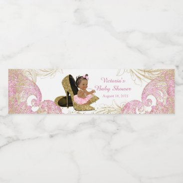 The_Baby_Boutique Pink Gold Baby Shower Water Bottle Labels