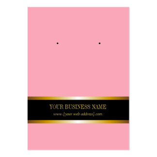 Pink Gold Black Custom Earring Card Large Business Card
