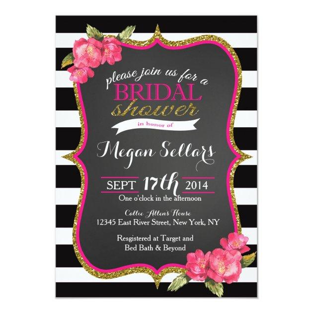 Personalized Pink White Stripes Invitations Custominvitations4u Com